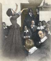 the life of anne hutchinson and her defiance of the church Church membership was restricted to those puritans who were willing to provide  a  anne hutchinson also ran afoul of puritan authorities for her criticism of the  evolving  because of hutchinson's beliefs and her defiance of authority in the  colony,  aggressively and as european ways increasingly disrupted native life.
