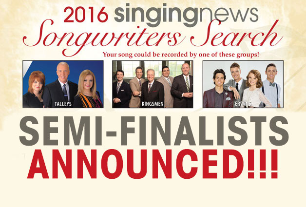 Semi-Finalists Announced In 2016 Songwriters Search