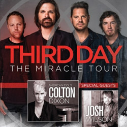 Third Day Announce &amp;quot;The Miracle Tour,&amp;quot; Slated to Hit 45 Cities This Coming Spring