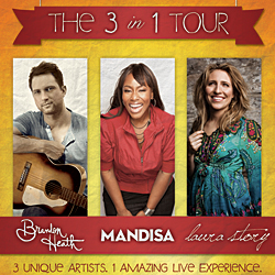 """The 3 in 1 Tour"" Brings Together Three Award Winning Artists For One-of-a-Kind Concert Experience"