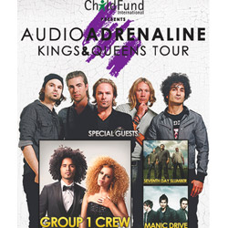 "Audio Adrenaline Kicks Off Their 30+ City ""Kings & Queens Tour"" March 1"