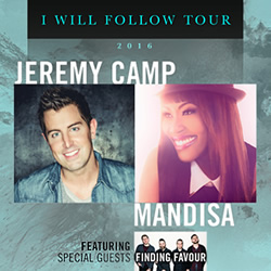 Jeremy Camp Announces 'I Will Follow' Tour With Mandisa