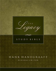 The Legacy Study Bible — Black Bonded Leather