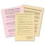 Marriage Parchment Sheets