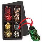 Christmas Shoe Ornament Box Set and Green Ornament