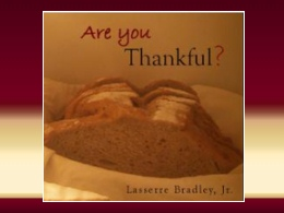 """Are You Thankful?"" CD"