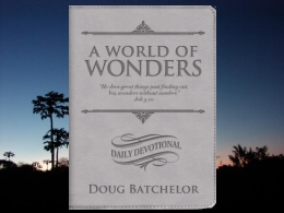 """A World of Wonders"" Daily Devotional"