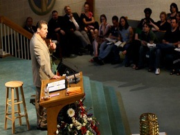 Pastor in Pulpit