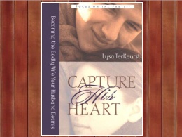 """Capture His Heart"" Book"