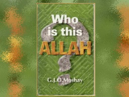 &quot;Who Is This Allah?&quot; Book
