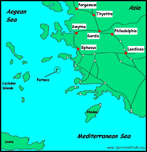Patmos near Asia Minor