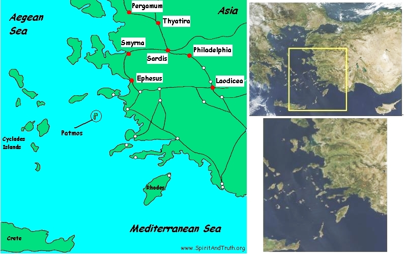 Bible Map Of Asia Minor.15 Seven Churches Of Asia Commentary A Testimony Of Jesus Christ