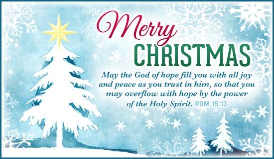 Christmas Bible Verses For Cards Kids Kjv Daughter And: Free Merry Christmas ECard