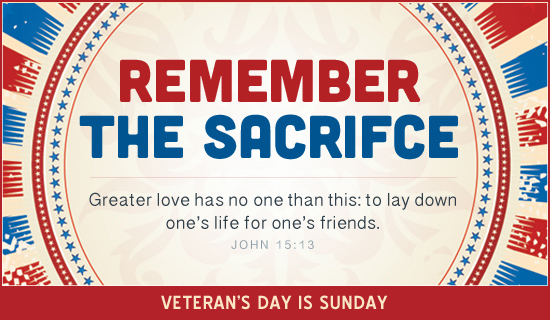 FREE Christian Veteran's Day  Ecards