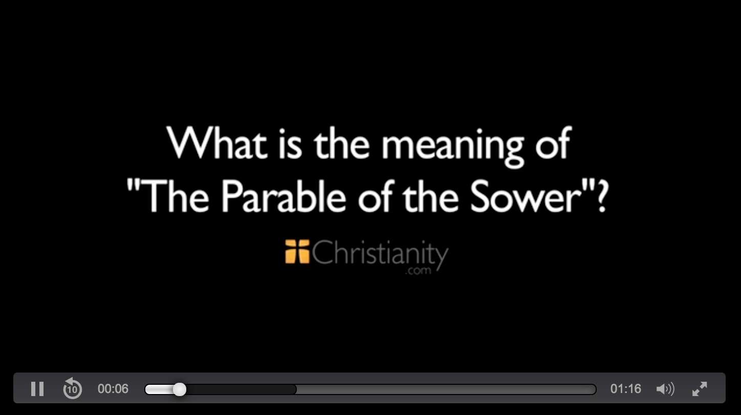 an interpretation of the parable of the sower in the bible He argued that the parables were not allegories and that whenever allegory did occur it was the addition of the evangelists, not the authentic teaching of the historical jesus jesus only sought to convey a general religious maxim through simple, straightforward comparison (cf the parable of the sower).