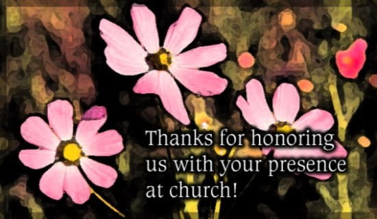 Thank - Presence At Church