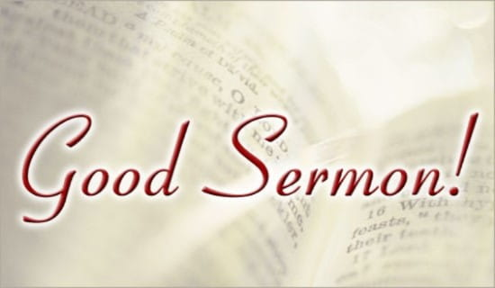 Good Sermon!