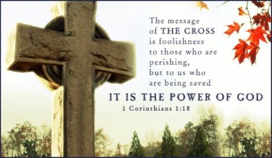 1 Corinthians 1:18 ecard, online card