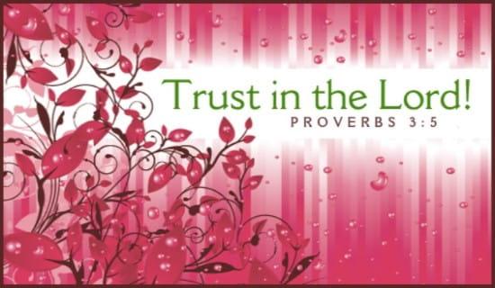 free proverbs 3 5 ecard