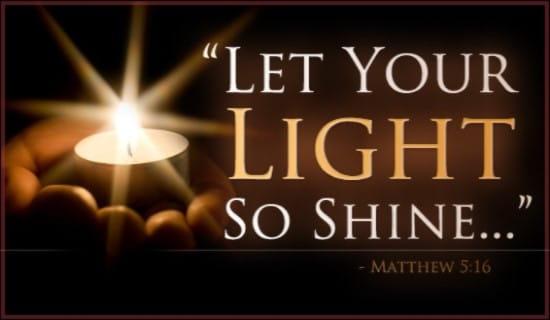 Light Shine ecard, online card