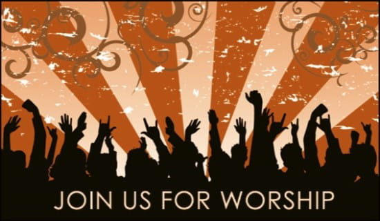 Worship Invite ecard, online card