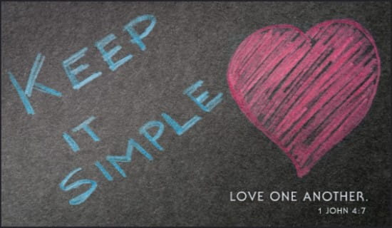 free keep it simple ecard