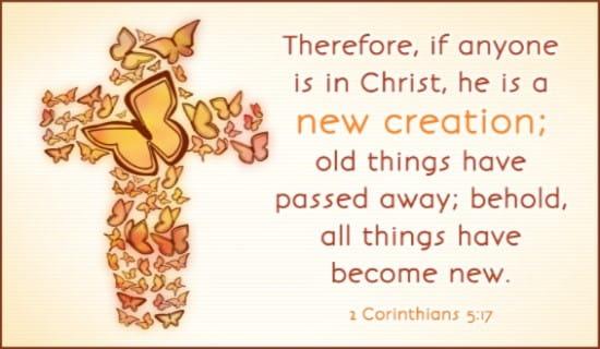 New Creation ecard, online card