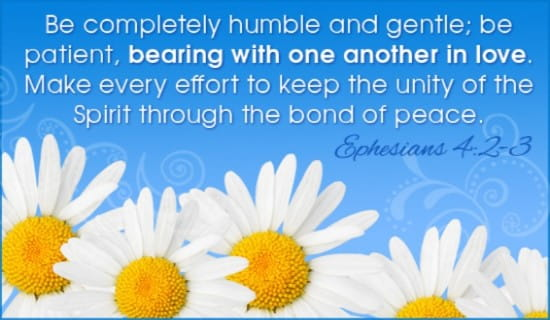 Image result for Ephesians 4:2-3