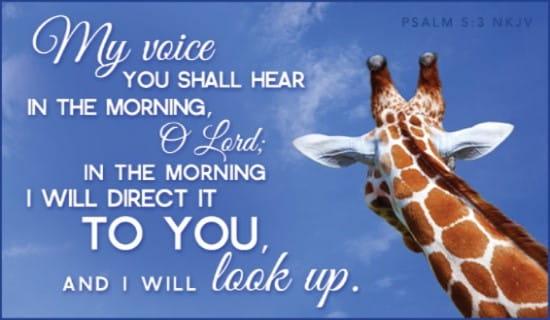 Psalm 5:3 NKJV