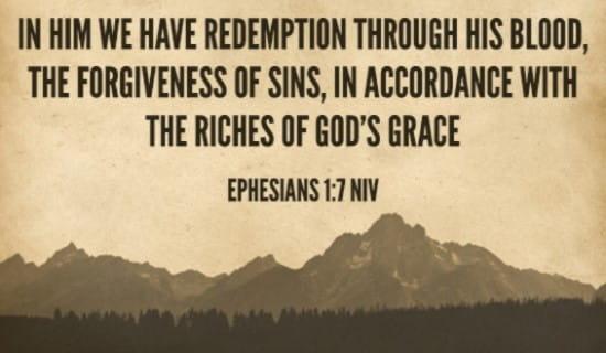 Ephesians 1:7 NIV