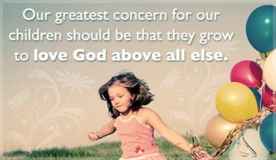 Children Love God ecard, online card