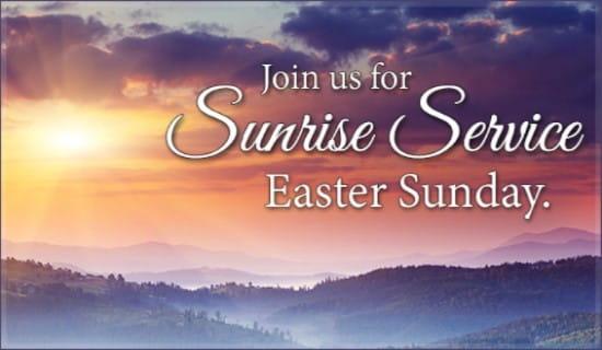 Sunrise Service Invite