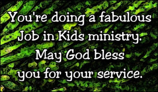 Fabulous Job In Kid's Ministry
