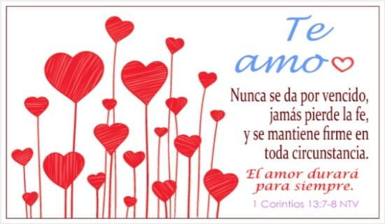 Amor, El amor durará para siempre - Free Christian Ecards ...