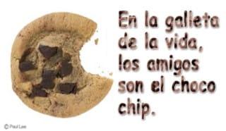 En la galleta de la vida, los amigos son el choco chip.