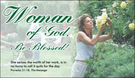 Woman of God ecard, online card