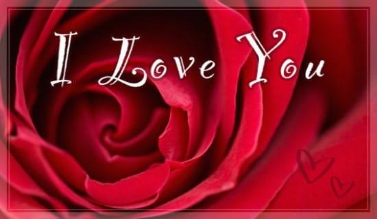 free i love you ecard