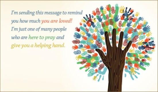 Helping Hands ecard, online card