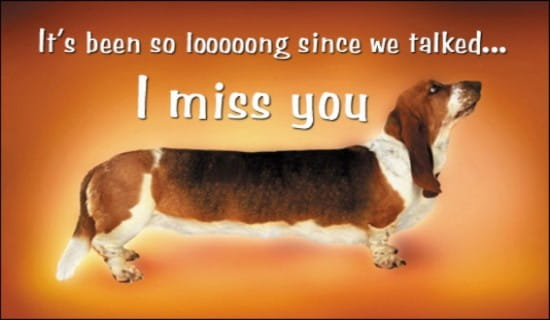 I Miss You ecard, online card