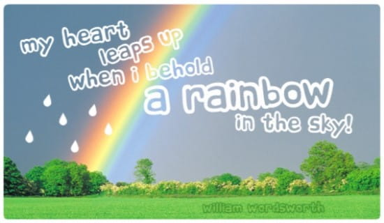 Rainbow in the Sky ecard, online card