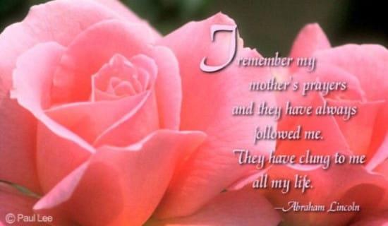 Mother's Prayers
