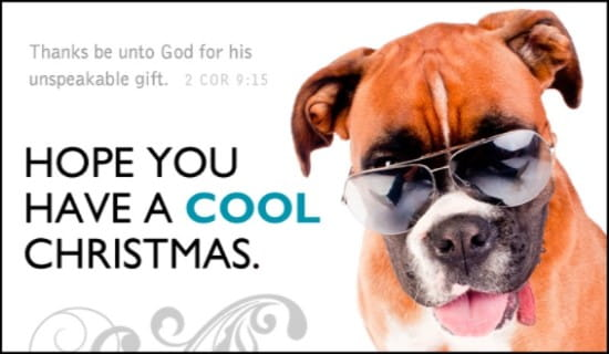 Cool Christmas ecard, online card