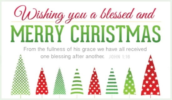 Blessed and Merry ecard, online card