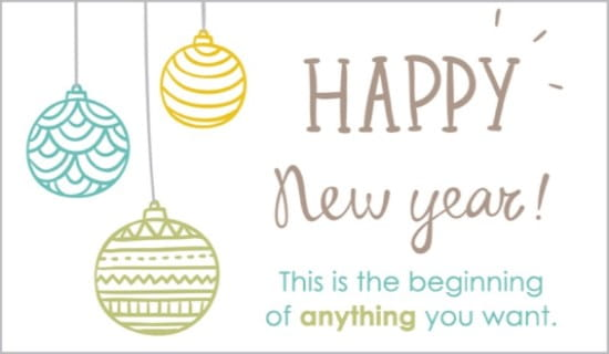 Happy New Year eCard - Free New Year Cards Online