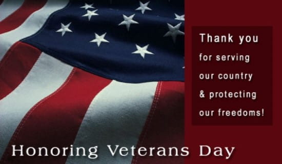 Honoring Veterans Day