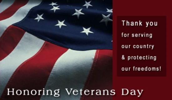 Honoring Veterans Day eCard - Free Veterans Day Cards Online