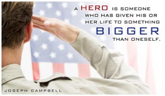 Hero ecard, online card