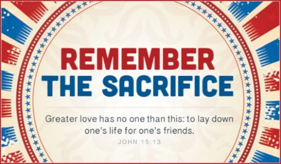 Remember Sacrifice ecard, online card