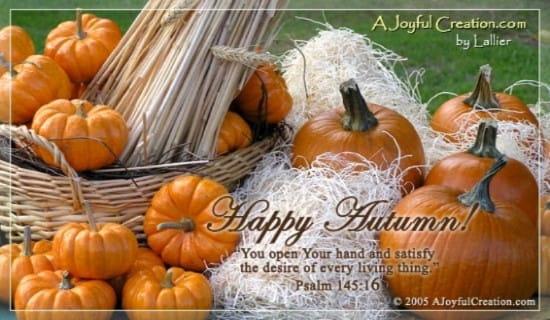 Autumn ecard, online card