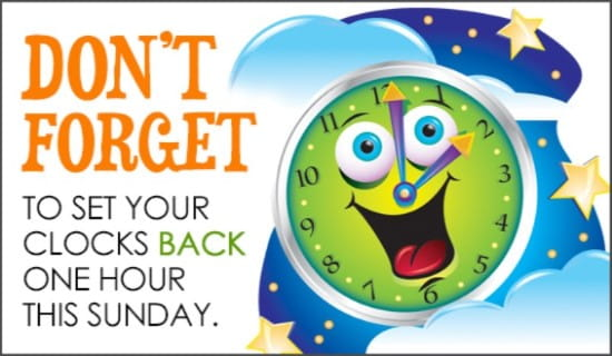 Set Clocks Back